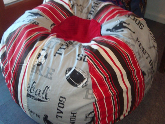 All Star Sports Bean Bag Chair With Soccer Baseball Football