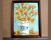 Vintage Paint By Number Lilies and Cookie Jar