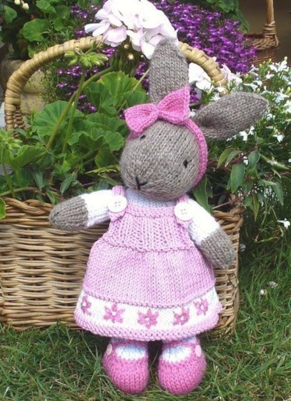 Bunty Bunny Rabbit Pdf Email Knitting Pattern By Debi Birkin