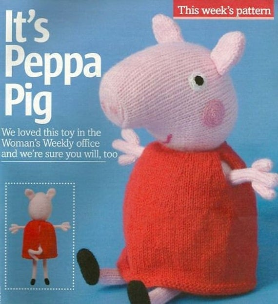 Peppa Pig Knitting Patterns : Peppa Pig Knitting Pattern by debi birkin by JustPeri on Etsy