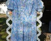 Adorable Retro Polyester Print Dress