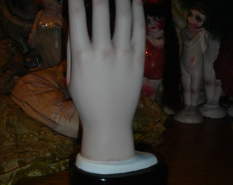 Vintage Composition Male Mannequin Right Hand Jewelry Glove Display