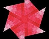 Hand Dyed Fabric - FIRE RED - 6 Step Gradation Fat Quarter Set