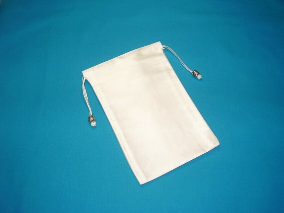 Pure White Silk Tarot Card Bag, Tarot Card Pouch