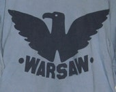 warsaw Made Handprinted T-shirt-SLATE BLUE