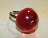 CLEARANCE--Bubblegum Pink Resin Ring