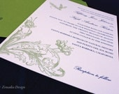 Butterflies and Whimsy Wedding Invitation