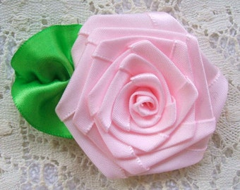 Ribbon Roses 1 XLG  2-1\/2in. Victorian, for Boutique Designers Whisper Pink FG
