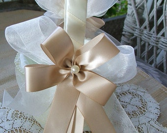 Wedding~Flower Girl Basket~Champagne~Handmade~ RAPSODY Flowergirl White or Ivory
