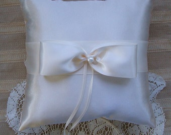 Wedding  Ring Bearer Pillow NOUVEAU Available in Ivory or white
