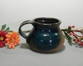 Turquoise and Red Coffee Mug
