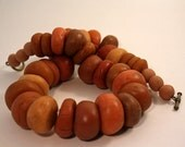 Polymer clay (faux amber) necklace