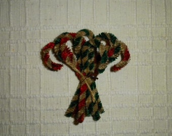 Primitive Chenille Candy Cane Ornies Mixed