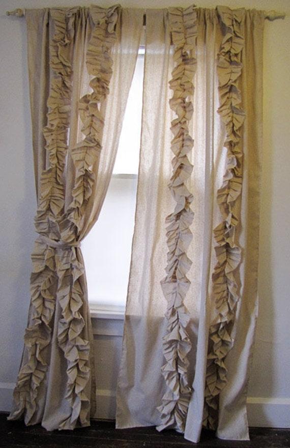 Custom Tattered Ruffles Drapes Dreamy Romantic Curtains