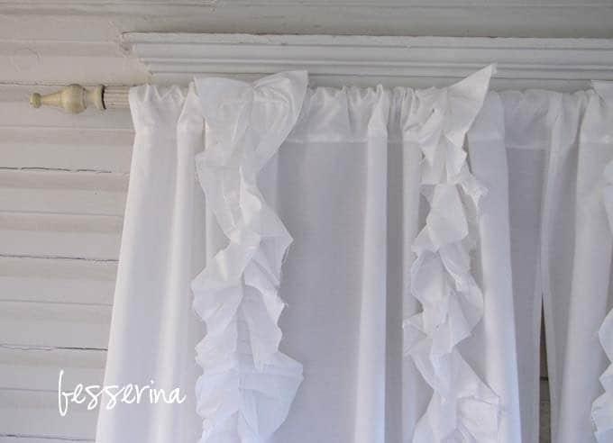 Custom White Tattered Ruffles Curtains 50 X 100 By Besserina