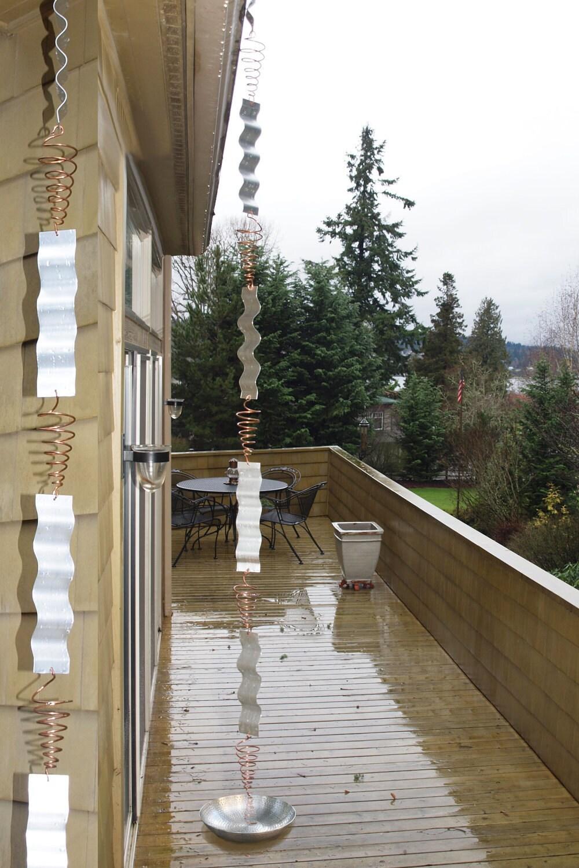 Copper Aluminum Rain Chain