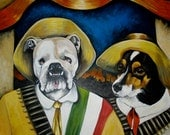Custom Comission DOG Painting 30 X 40 Acrylic OIL of your pet ANY pet Large