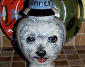 Custom PET URN for dogs and cats MEDIUM Bijon frise Poodle any breed