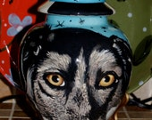 Custom medium PET URN for dogs and cats bull dog medium larger breeds any pet