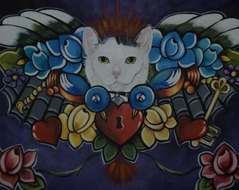 Custom Tattoo Memorial Pet Painting 18 x 24 Acrylic Water Color etc your choice