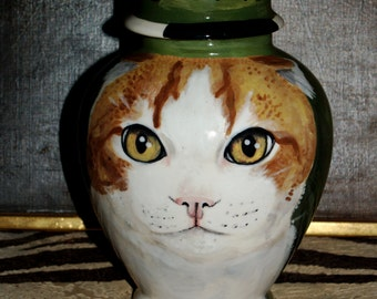Custom small  PET URN for Angus special made custom to order