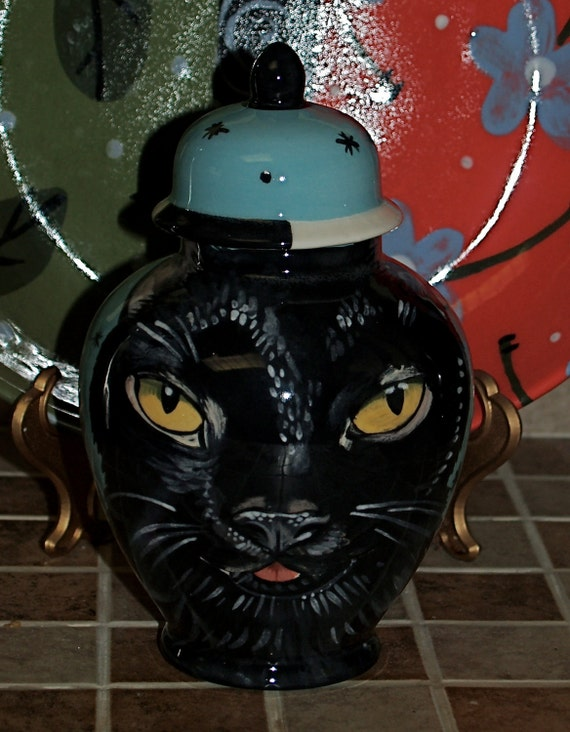 Custom medium PET URN for dogs and cats SMALL black cat made to order