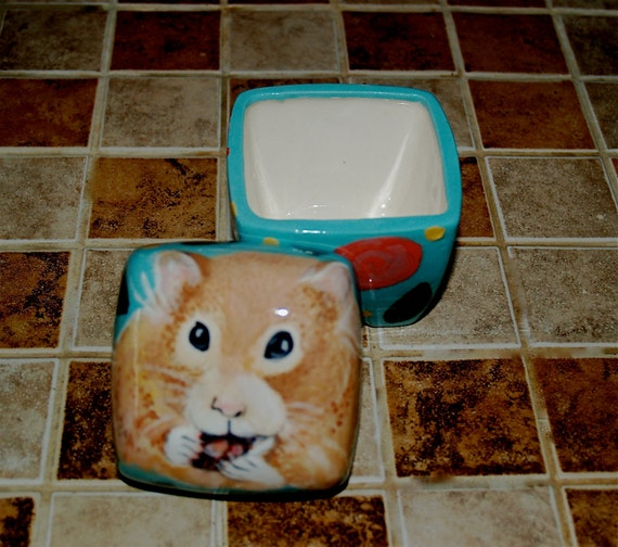 Custom extra small PET URN for hamsters birds mice SMALL ceramic box made to order