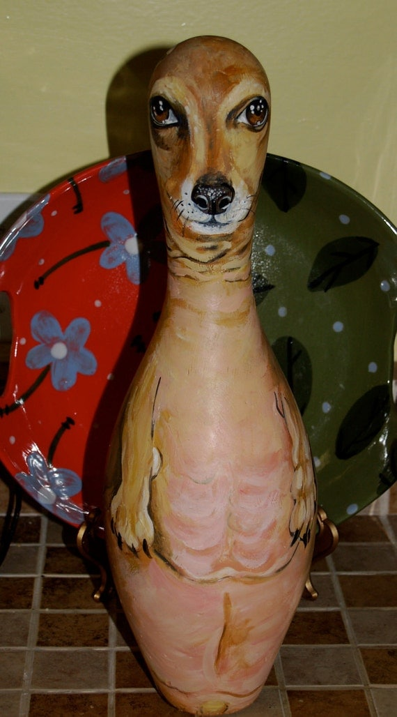 Custom hand painted bowling pin URN with your cats pet portrait on it all smaller breeds of cat or dog