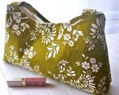 Olive Floral Smantha Bag Amy Butler Interior Pockets Small Shoulder Bag READY to SHIP
