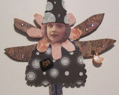 Fairy ZELDA Art Doll, OOAK, Altered, Assemblage, Mixed Media, Collage, Fantasy, Fairytale, Enchanted, Magic,  Pixie, Witch