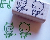 tid and bit - rubber stamp