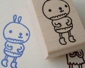 ruffles the rabbit - rubber stamp