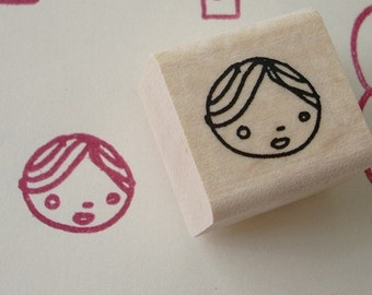 lacy the face - rubber stamp