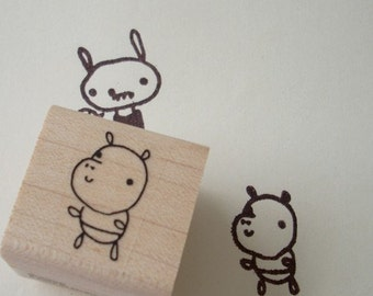 hippo helena - rubber stamp