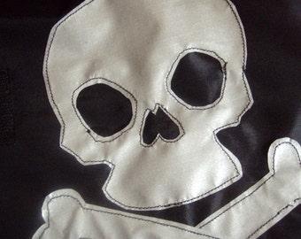 XX small Dog jacket waterproof with giant reflective skull