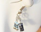 Resistor Geek Nerd Wear Earrings Blue and Black Electrical Components
