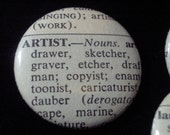Vintage Dictionary 2 Custom Buttons Your Word Choice You Pick Your Selection