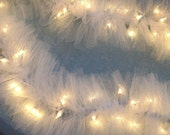 Beautiful Lighted Swag Garland White TULLE on STRING LIGHTS wedding or home