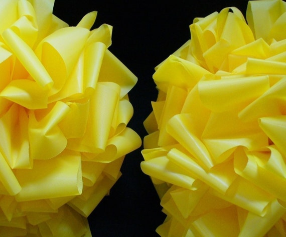 2 Yellow Bows weatherproof Tie a Yellow ribbon for the Troops