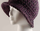 Crocheted Chunky Bucket Style Ladies Hat