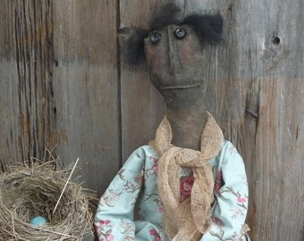 Primitive Phoebe Folk Art Doll