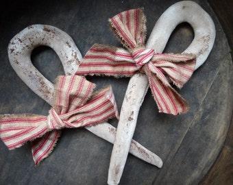 Primitive Folk Art Candy Cane Sugar Stick