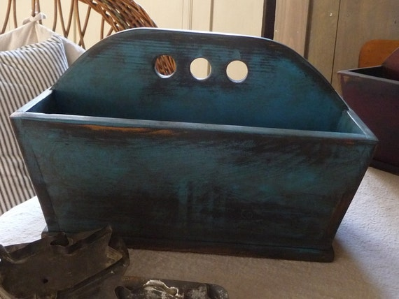Primitive Americana Reproduction Old Blue Late 1700 Cutlery Tray