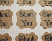 50 kraft paper Fairy Tale style Thank You stickers