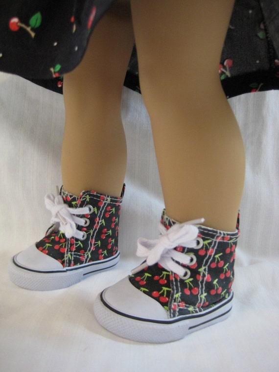 cherries skirt shirt high top cherries tennis shoes fits
