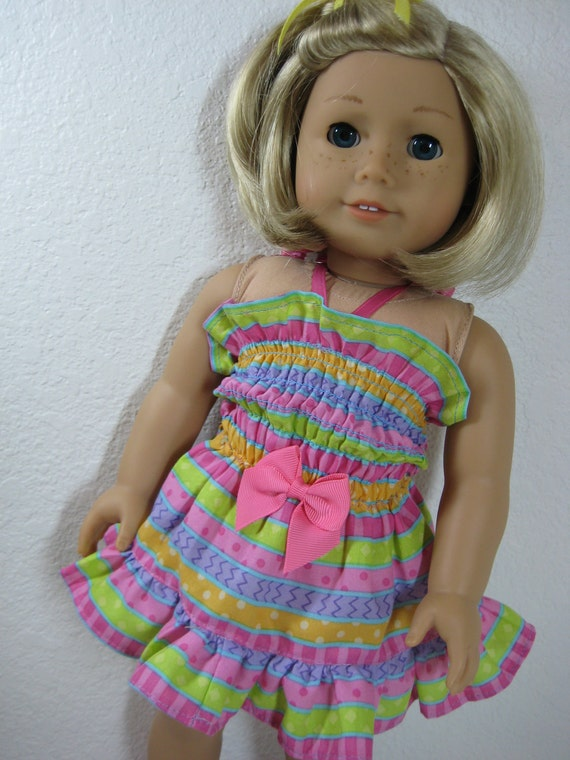 18 inch Doll Clothes American Girl Sundress in Stripes