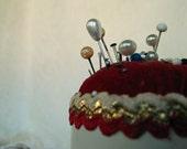 Vintage Pin Cushion Unusual Hairspray Lid