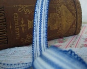 Vintage Blue and White Trim