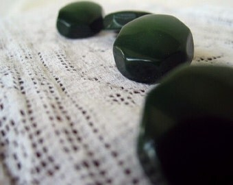 Vintage buttons unusual green