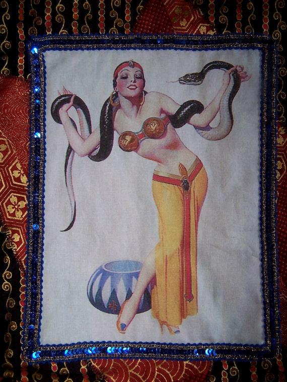 Reserved Listing for Emily - Art Deco Snake Charmer Bag